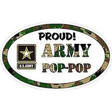 Amazon Com Vinyl Decal For Car Window Proud Army Pop Pop Military Full Color Office Products