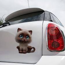 Exterior Accessories Car Sticker Car Decal Funny Head Tilt Cat Car Sticker Car Window Rear Graphic Animal Car Styling For Car Laptop Window Sticker Cbib Cl