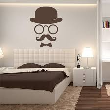 Retro Gentleman Wall Decal Mustache Wall Decal Living Room Etsy