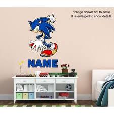 Personalized Sonic The Hedgehog Wall Decal Removable And Replaceable Snappy Photo Gifts