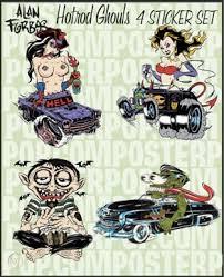 Alan Forbes Hotrod Ghouls 4 Sticker Set Afi Artist 96900574
