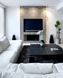 modern fireplace under a mounted flat