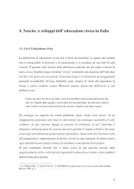 Cos'é l'educazione civica La definizione di educazione civica non ...