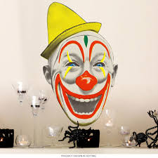 Scary Nose Creepy Circus Clown Wall Decal At Retro Planet
