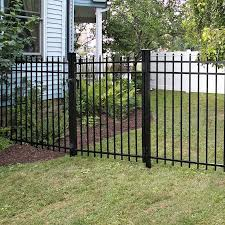 Freedom Standard Providence 5 Ft H X 6 Ft W Black Aluminum Decorative In The Metal Fence Panels Department At Lowes Com