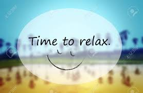 quotes text time to relax on blurred countryside background