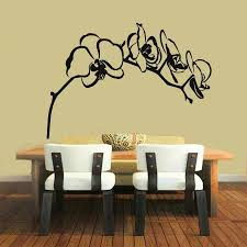 Floral Wall Decals Orchid Flower Vinyl Stickers Murals Living Room Bedroom Decoration Removable Art Murals Yy251 Sticker Mural Floral Wall Decalsbedroom Decor Aliexpress