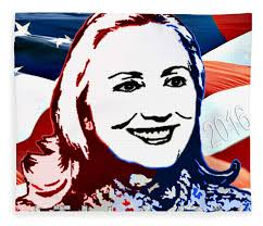 Flag of Hillary Fleece Blanket for Sale by Jost Houk