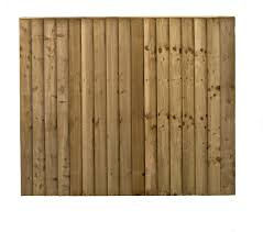 Pressure Treated Green Double Sided Close Board Fencing Panel Fencing