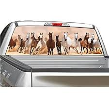 Amazon Com Wild Horses Running Rear Window Graphic Decal Sticker For Truck Suv 4 Sizes 20 X 66 Automotive