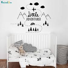 Adventure Wall Decal Mountain Woodland Travel Boys Home Decoration Kids Baby Room Nursery Self Adhesive Lovely Sticker Yt970 Wall Stickers Aliexpress