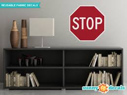 Stop Sign Fabric Wall Decal Traffic And Street Signs 3 Sizes Available Large Walmart Com Walmart Com