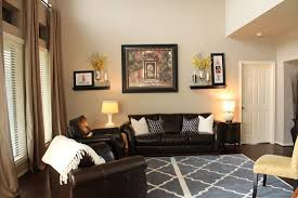 wall color with dark brown furniture