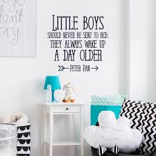 Nursery Wall Decal Quote Little Boys Should Never By Fabwalldecals Peterpan Wall Decal Nursery Wall Decals Quotes Wall Decal Boys Room Nursery Wall Decals