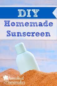 diy homemade sunscreen recipe