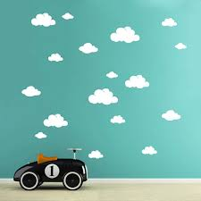 Wall Decal Cloud Clouds 19 Pieces M1756 Wall Decals Bumper Sticker Murals Bags Cups Backpacks And Many More At Www Deinewandkunst Com