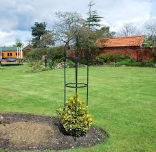 steel garden obelisk garden outdoor