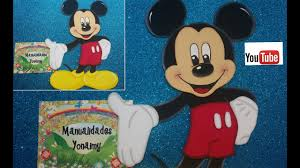 Mickey Mouse Completo Hecho De Foamy O Goma Eva Youtube