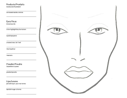 makeup drawing template at