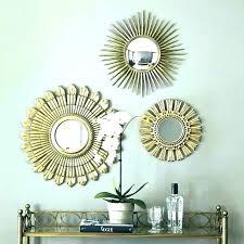 set of wall mirrors 3 small x