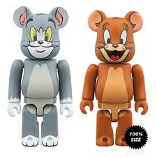 Tom and Jerry Bearbrick 2-Pack by Medicom Toy - Mindzai