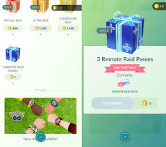 1 PokeCoin 3 Remote Raid Pass Bundle in Pokemon Go
