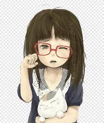 أنيمي الحزن الرسم كارتون فتاة حب طفل Png