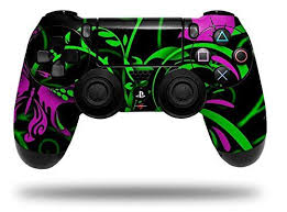 Twisted Garden Green And Hot Pink Decal Style Wrap Skin Fits Sony Ps4 Dualshock Controller Controller Not Included Check Out This Great Product Note It Is