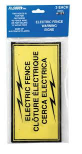 Nemtek Electric Fence Warning Sign For Sale Online Ebay