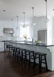 long kitchen island traditional
