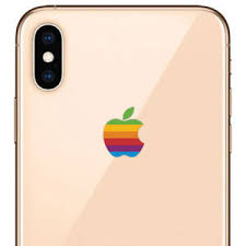 Retro Rainbow Apple Decal Sticker For Iphone Xs Max And Iphone Xs 787421555028 Ebay