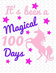 Diy 100 Days Of School Tshirt Unicorn Magical 100 Days Of School Shirt Project Vinyl Decal Iron On 100 Days Of School 100 Day Of School Project School Tshirts