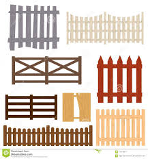 Cartoon Color Wooden Fence Set Vector Stock Vector Illustration Of Cartoon Board 112179611
