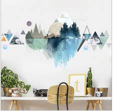 New Hanging Vines Watercolors Style Wall Decals Home Stickers Deco Room Decor