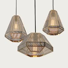 geometric mesh shade 1 lamp ceiling