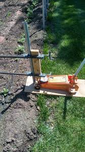 How To Remove A Non Concreted Fence Post Use Three Clamps Not Two I Broke A Clamp Using Only Two Was Abl Metal Fence Posts Fence Post Concrete Fence Posts