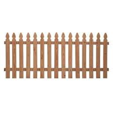 1 In X 4 In 42 In X 8 Ft Cedar Spaced French Gothic Fence Panel 23 97 Each Picket Fence Panels Wood Fence Fence Panels
