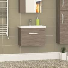 driftwood wall hung vanity unit
