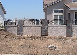 Ornamental Wrought Iron Property Fences Orange County Ca Iron With Wood Masonry Fences