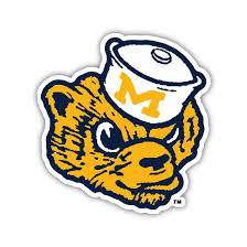 Wolverbear Throwback Sticker University Of Michigan The Mitten State