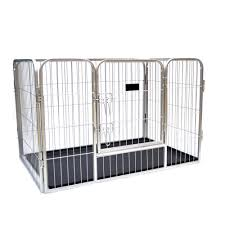 4 Panels One Door Small Animal Dog Pen Puppy Play Fence Exercise Cages With Plastic Tray Buy Small Animal Pen Puppy Play Fence Product On Alibaba Com