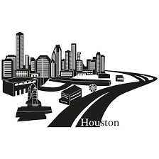 Houston Skyline Wall Sticker Wall Art Com