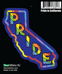 Pride In California Sticker Heart Sticker Company