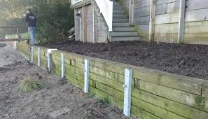 retaining wall repair along the maumee