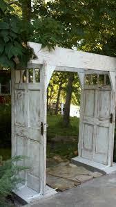garden arbors made from old doors