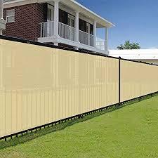 Amazon Com E K Sunrise 4 X 50 Beige Fence Privacy Screen Commercial Outdoor Backyard Shade Windscreen Mesh Fabric 90 Blockage 3 Years Warranty Customized Set Of 1 Garden Outdoor
