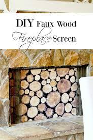 diy faux wood fireplace screen duke