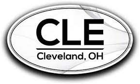 Amazon Com More Shiz Cle Cleveland Ohio Airport Code Decal Sticker Home Travel Car Truck Van Bumper Window Laptop Cup Wall Two 5 5 Inch Decals Mks0552 Automotive