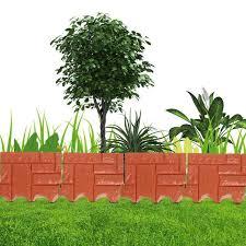 1pc Assemble Plastic Simulated Brick Effect Lawn Garden Grass Edging Skirting Border Picket Fence Home Gardening Diy Fence Decor Fencing Trellis Gates Aliexpress