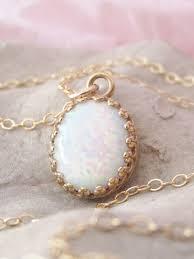 opal necklace gold opal pendant